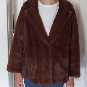 Jackets & Blazers - Vintage Red Fur Coat